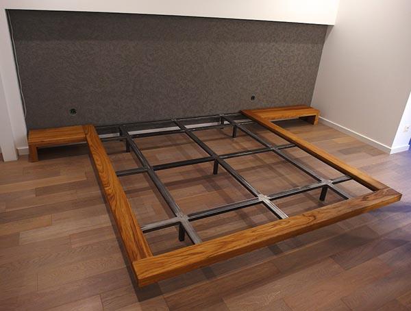 Telaio in metallo con legno