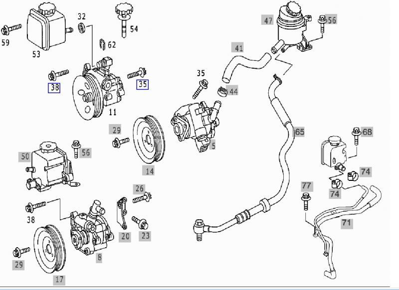 1999 pontiac power steering parts