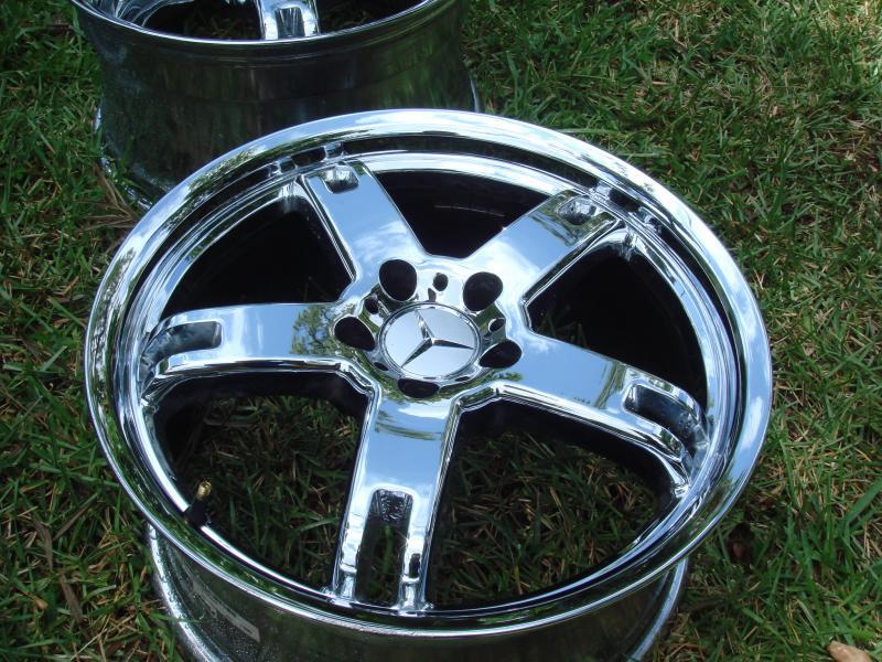 Fs 18 Quot Tsw C Slk Clk Class Wheels Chrome Staggered 550