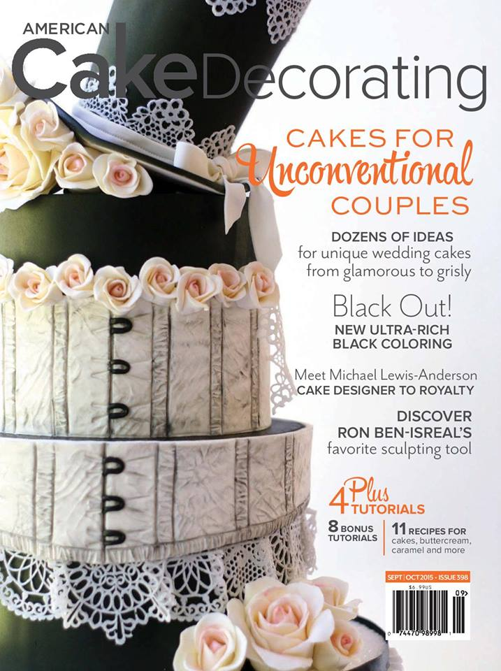 American Cake Decorating  A SUPAH Cool Cake Magazine    McGreevy Cakes cover of ACD Magazine