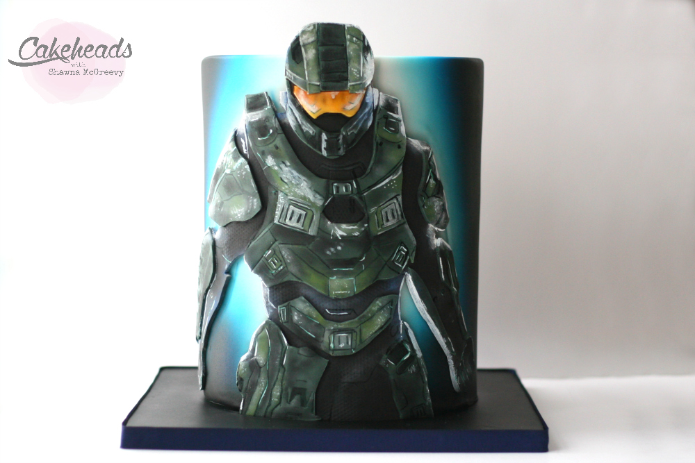 Painting Halo Cake Amp Covering A Double Barrel Mcgreevy Cakes