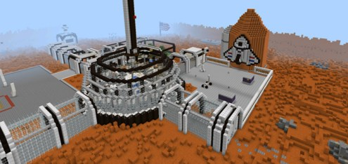 Hunger Games Mars  PvP    Minecraft PE Maps hg mars 4
