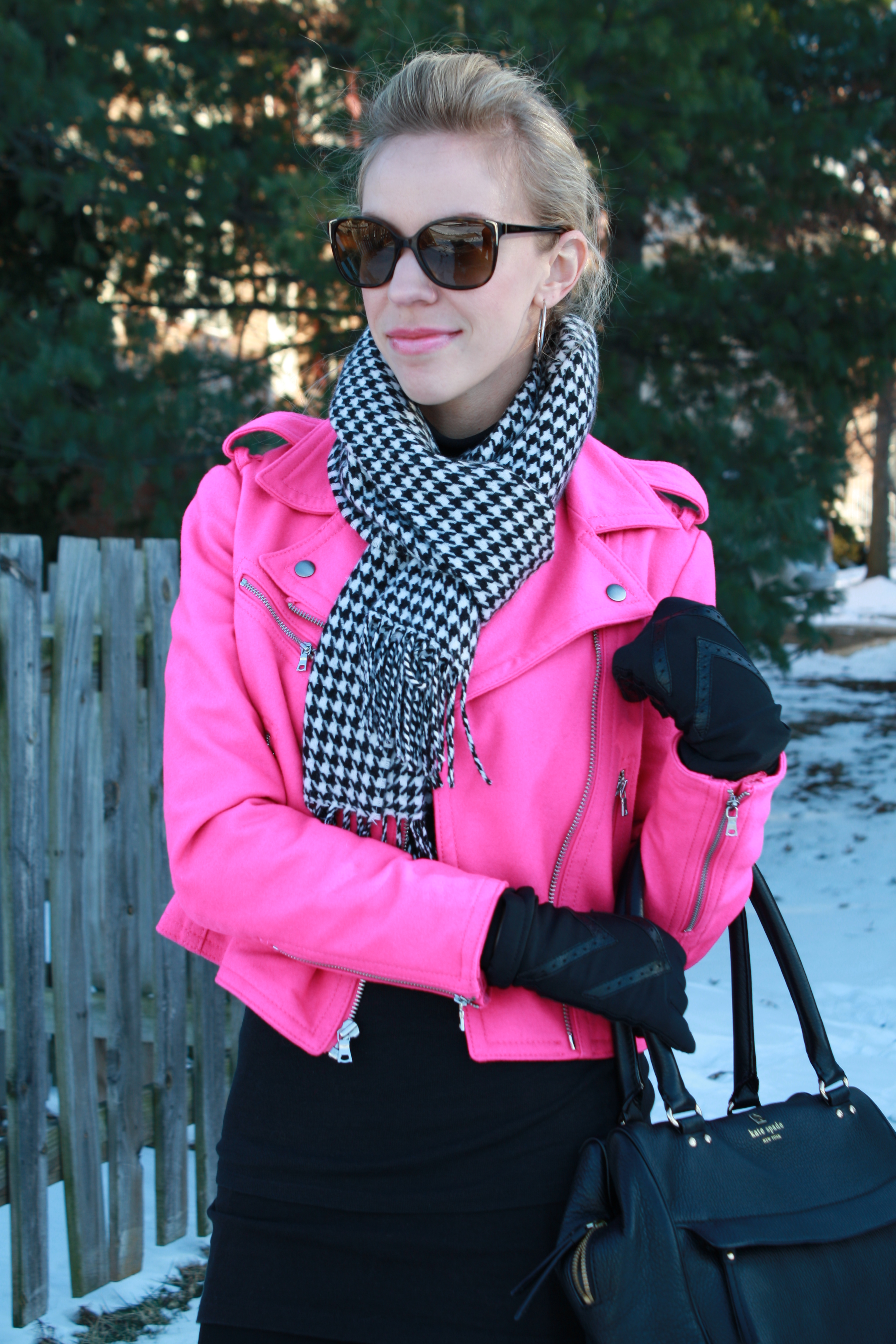 Shopping Houndstooth Scarf