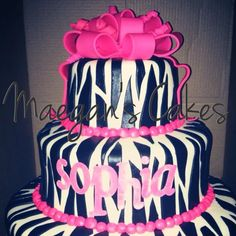 Maegan S Cakes On Pinterest Birthday Cakes Purple