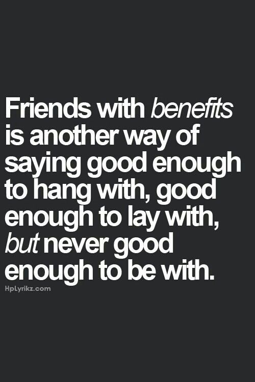Friends with benefits | Words with meaning | Pinterest