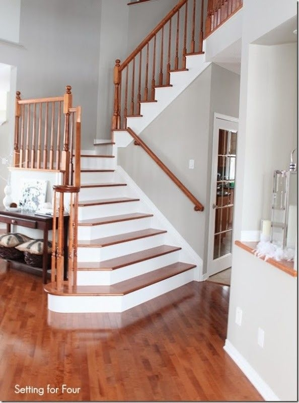 How To Makeover Your Stairs Tips To Replace Carpet And | Changing Carpeted Stairs To Hardwood