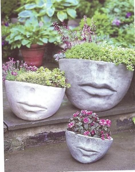 Whimsical Garden Ideas Pinterest Photograph Face Planters
