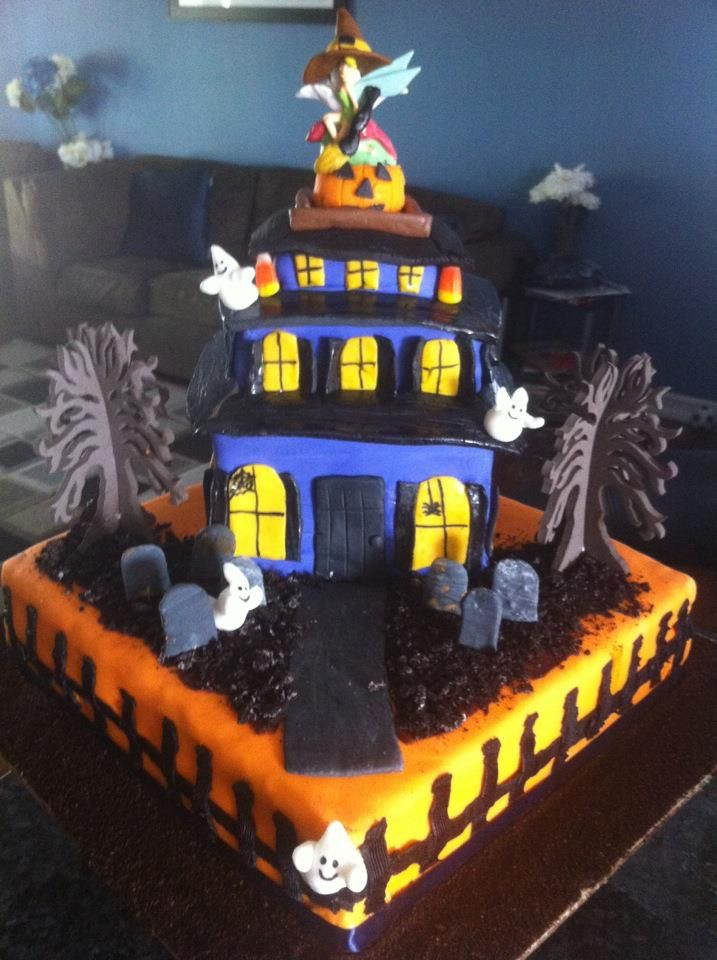 Haunted House Cake Party Foods Pinterest