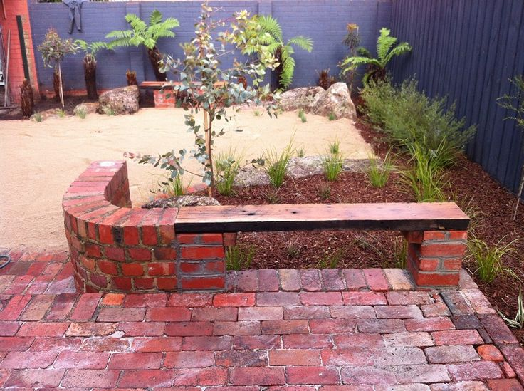 Brick Paving Patio Bench And Bench Seat On Pinterest