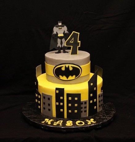 Mason S 4th Birthday Batman Cakes Pinterest