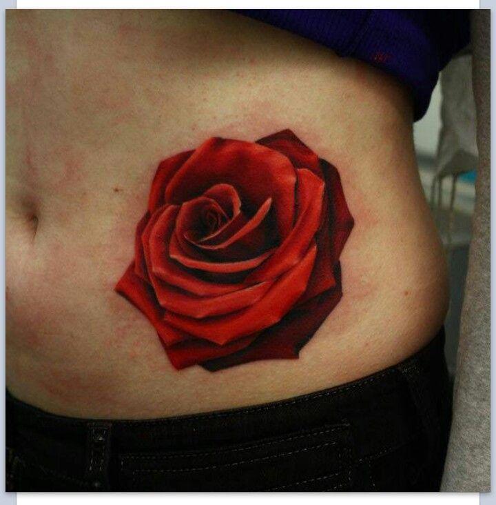 Realistic rose tattoo | Tattoo Ideas | Pinterest