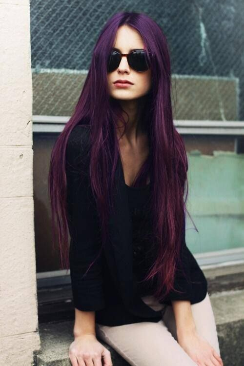 plum dark purple hair | Hair! | Pinterest