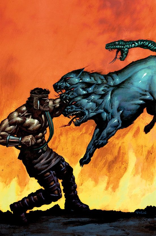 Hercules Vs Cerberus | www.imgkid.com - The Image Kid Has It!