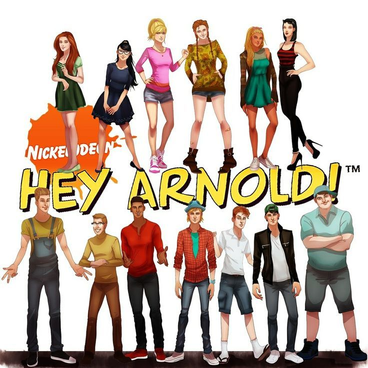 realistic adult Hey Arnold cast | knd recruits and future ...