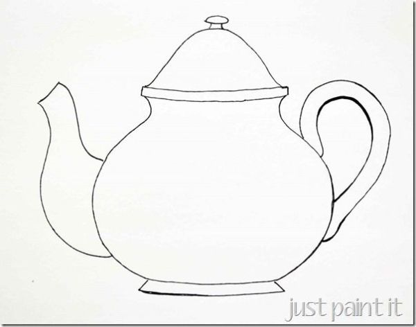 teapot coloring page # 16