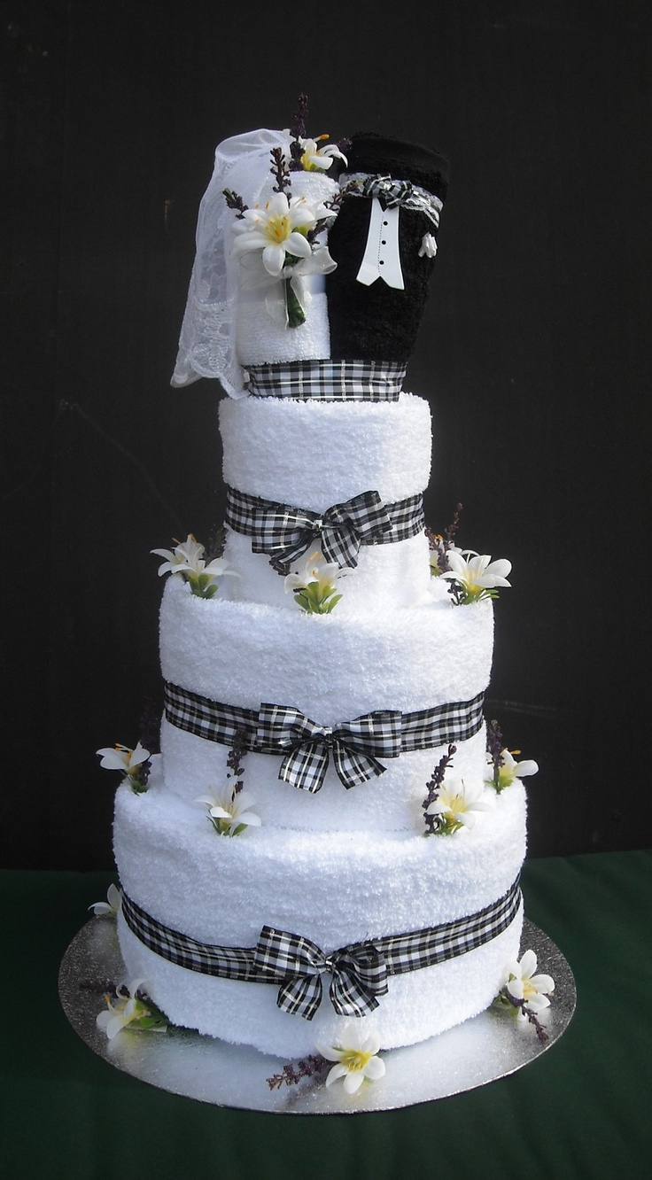Bride And Groom Towel Cake Ideas 70508 Wedding Towel Cake