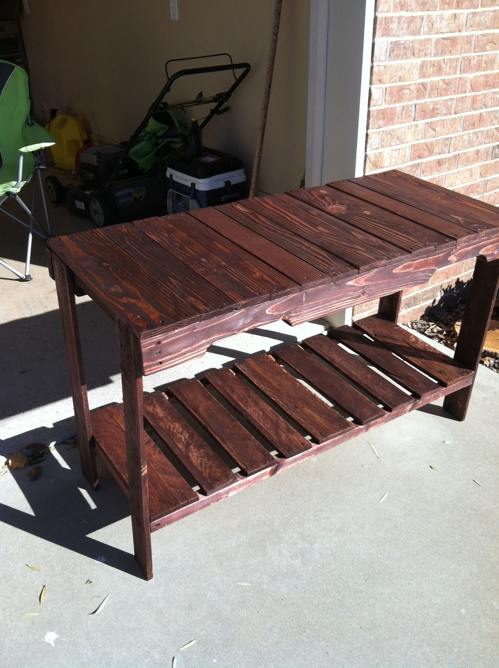 Cheap And Easy To Make Pallet Sofa Table Pallets Designs