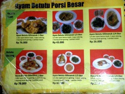 Ayam Betutu - - Picture of Ayam Betutu Khas Gilimanuk Bali ...