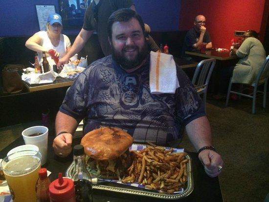 Fat Burger Happy Eating Guy