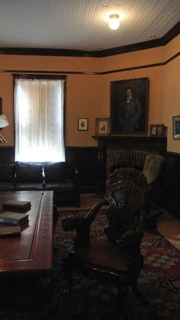Inside Booker T  Washington s office in his home  second floor     The Oaks   Home of Booker T  Washington  Inside Booker T  Washington s  office