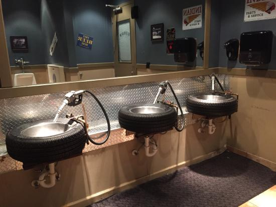 Totally cool bathroom sinks    Picture of Ford s Garage  Estero     Ford s Garage  Totally cool bathroom sinks