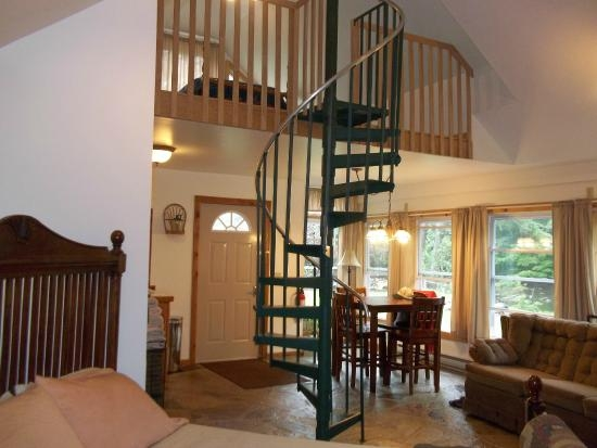 Spiral Staircase To Loft With Twin Bed Picture Of Meshach   Loft With Spiral Staircase   Small   Contemporary   Addition   Timber   New