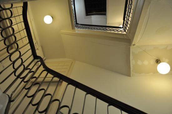 Hostels Inner Staircase Picture Of Travellers House Lisbon   Inner Steps Design For House   Contemporary   Ultra Modern   Metal Staircase   Double Storey   Side Wall