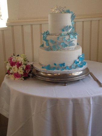Butterfly wedding cakes with edible lace and sparkles   Picture of     Cakes The Difference  Butterfly wedding cakes with edible lace and sparkles