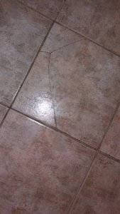 Cracked floor tile   Picture of Peebles Hydro  Peebles   TripAdvisor Peebles Hydro  Cracked floor tile