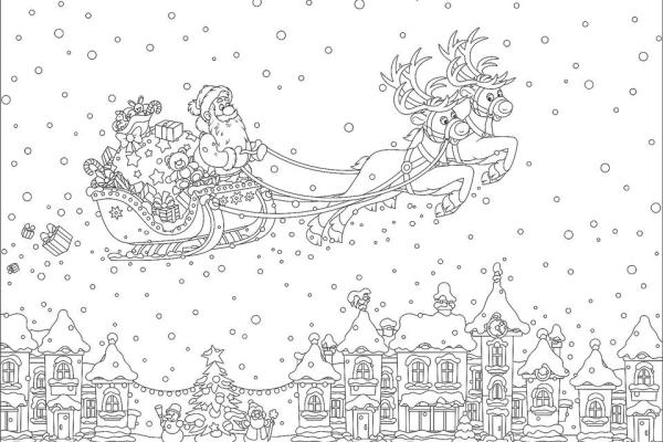 printable holiday coloring pages # 3