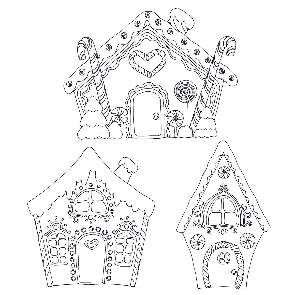 Gingerbread House Coloring Pages Printable Coloring Activity