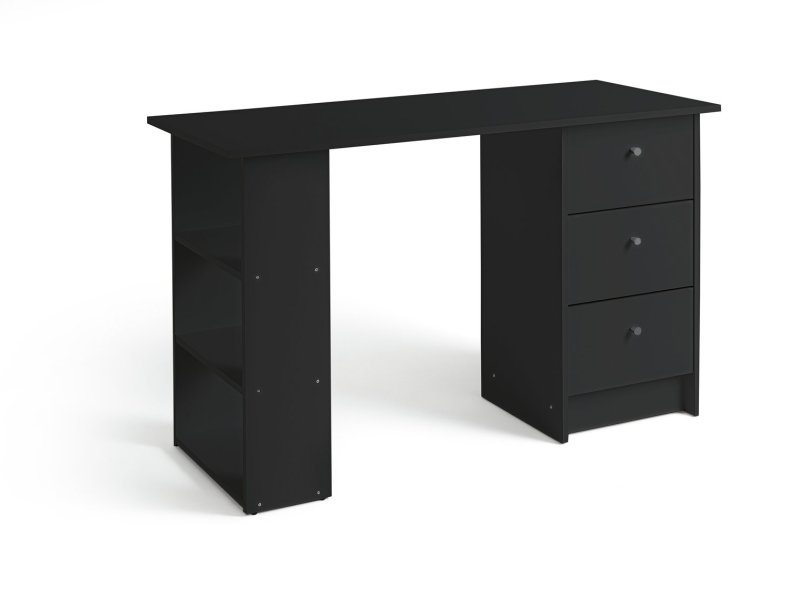 Buy Argos Home New Malibu 3 Drawer Desk   Black   Desks and     Click to zoom