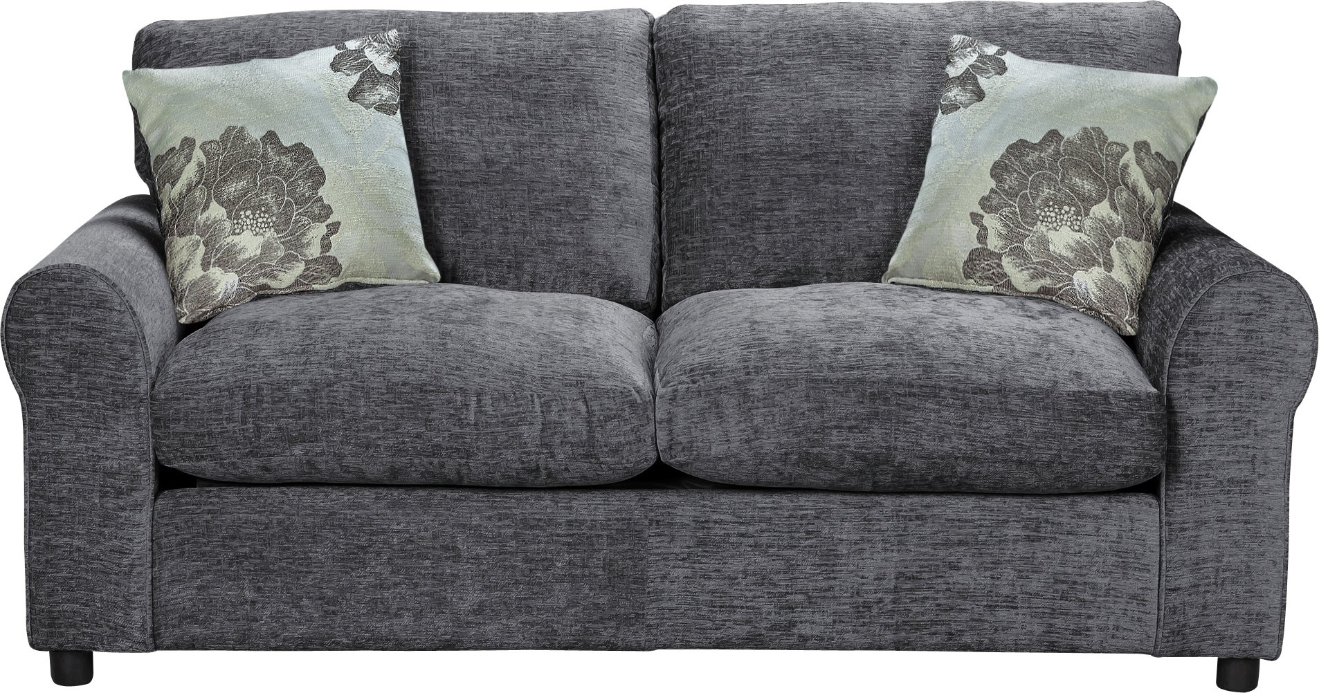 Sofa Beds  Chair Beds   Futons   Bed Settees   Argos Argos Home Tessa 2 Seater Fabric Sofa Bed   Charcoal