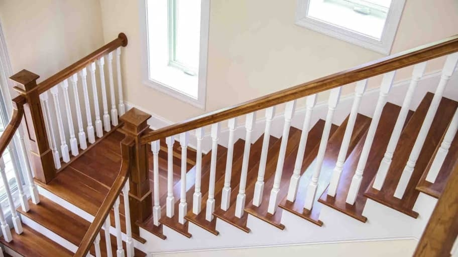 How To Refinish Indoor Stair Railings Angie S List | Cost To Restain Stair Railing | Spindles | Refinishing Hardwood Stairs | Baluster | Sanding | Paint
