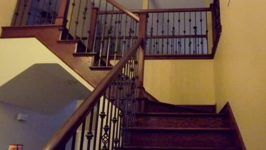 How To Stain A Stair Banister Angie S List | Cost To Refinish Wood Railing | Stair Treads | Interior | Gel Stain | Paint | Balusters