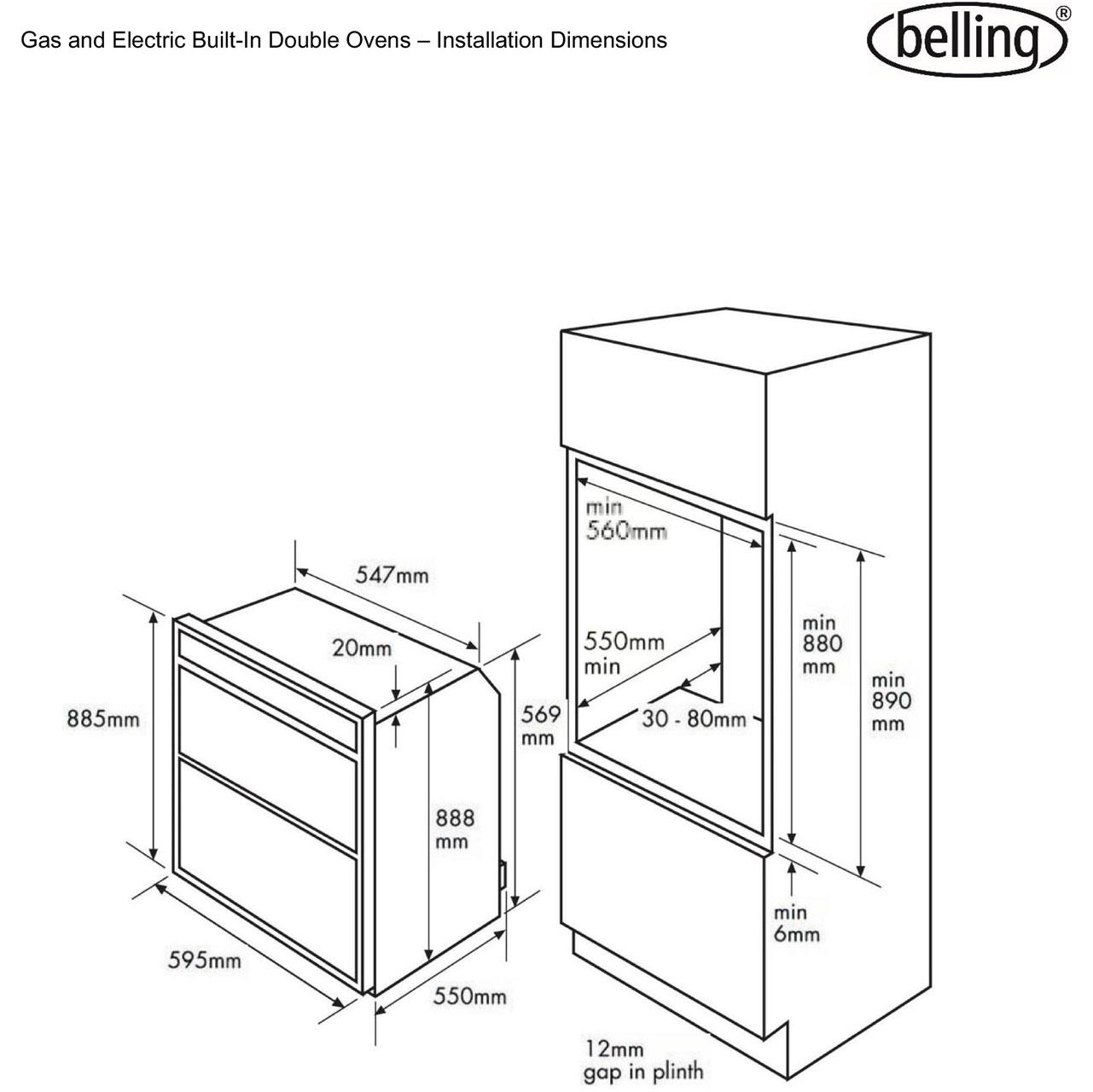 Bi90fp bk belling doubleoven dim l belling bi90fp built in double oven stainless steel belling cooker wiring diagram at aneh