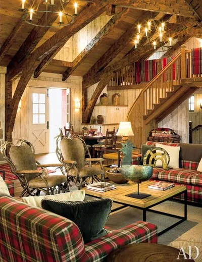 Plaid Rooms Architectural Digest