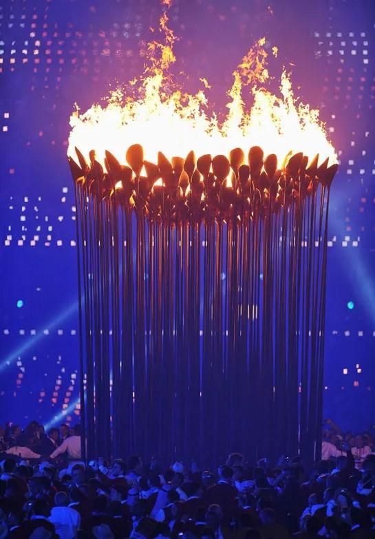 The 2012 Olympic Cauldron Designed By Thomas Heatherwick