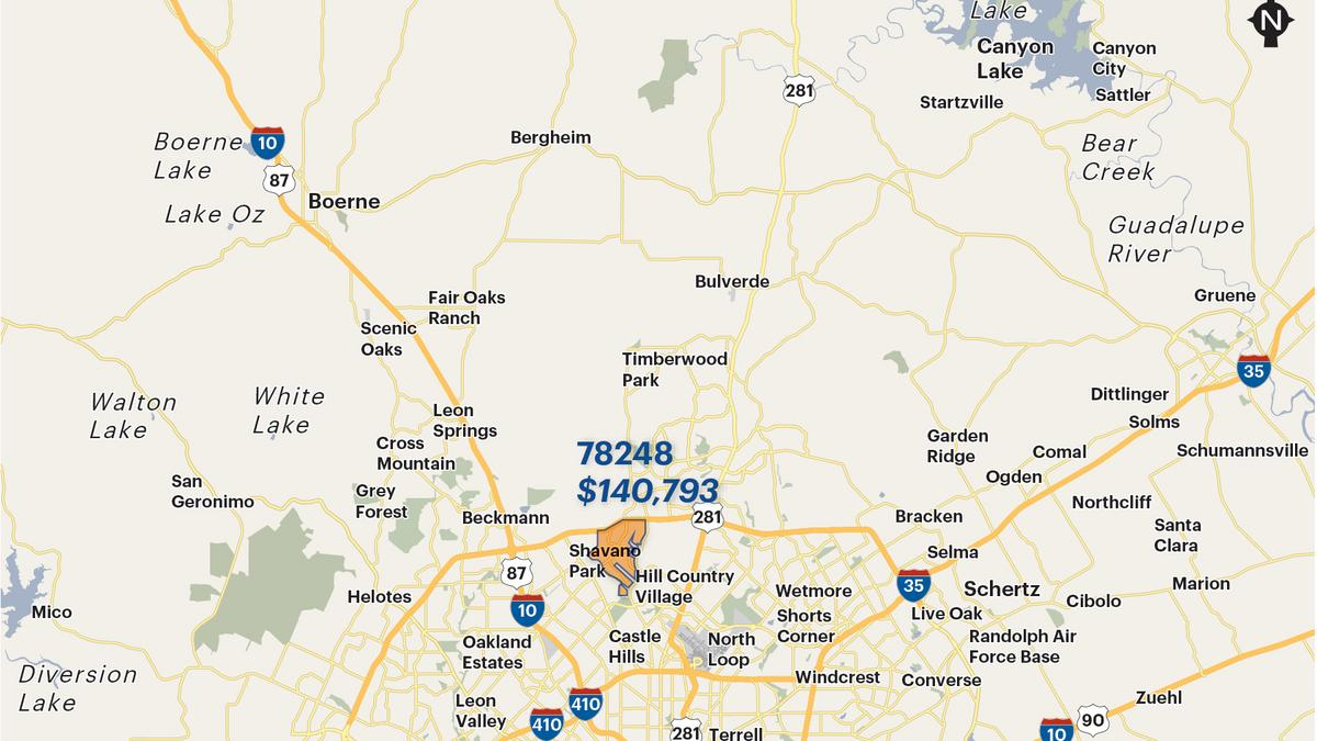 San Antonio Area S Wealthiest Zip Codes By Average