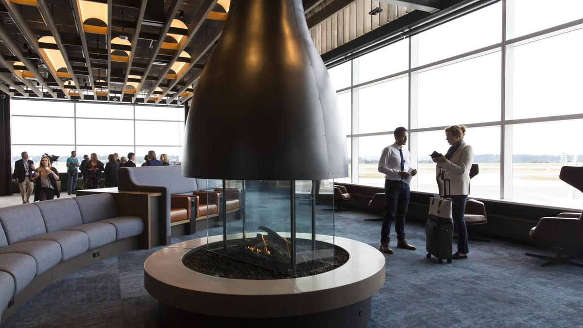 Inside The Alaska Airlines Flagship Lounge At Seattle