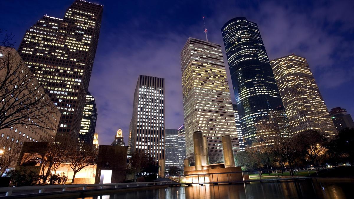 Houston Texas Skyline Night