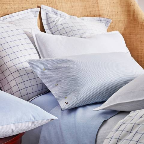 Baxter Oxford Large Square Pillowcase Blue Brandalley