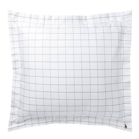 Baxter Oxford Large Square Pillowcase Charcoal Brandalley