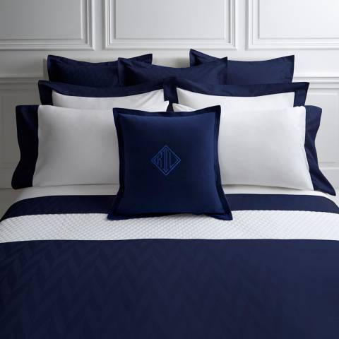 Radnor Large Square Pillowcase Navy Brandalley