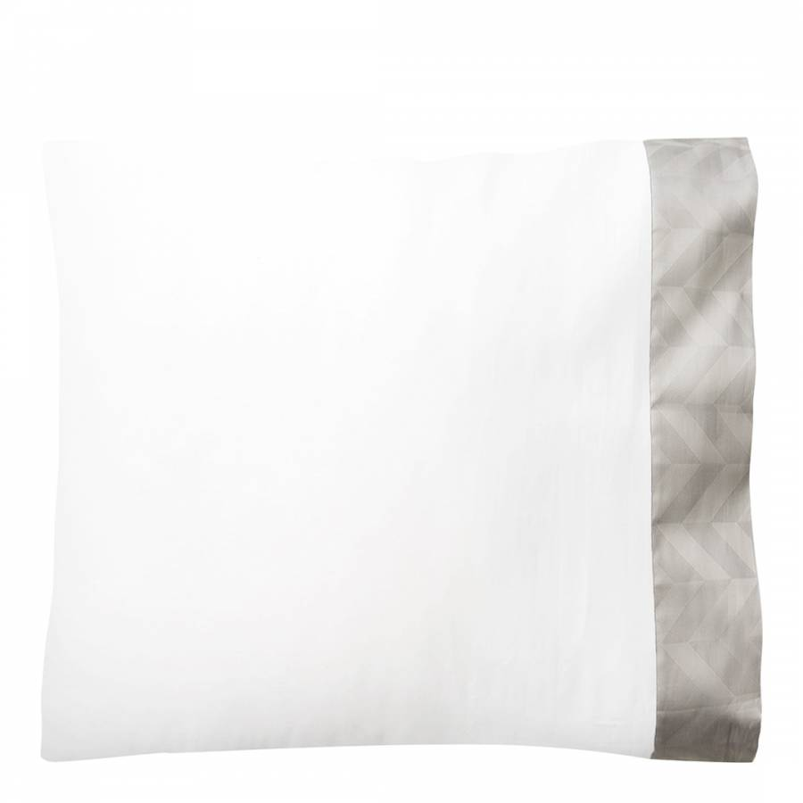 Radnor Large Square Pillowcase Silver Brandalley