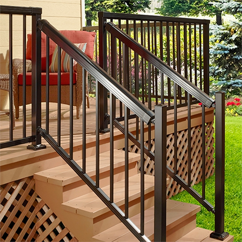 Peak Balustrade Black Stair Post Bunnings Warehouse   Aluminium Handrails For Stairs   Guardrail   Exterior   Wood Wall Mounted Stair   Copper   Glass Balustrade