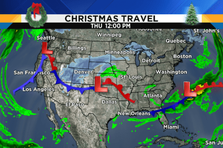 Metro Detroit weather forecast  White Christmas chances    Let s take a look at your Christmas travel weather day by day  starting  with today  I don t see any major weather problems at the nation s major  hubs