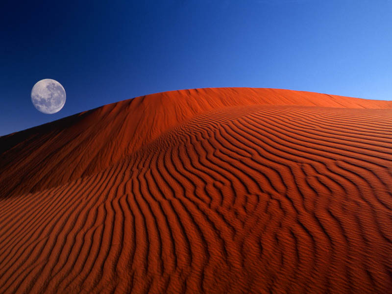 6 places you thought were only Windows wallpapers   Cond     Nast     Full Moon over Red Dunes