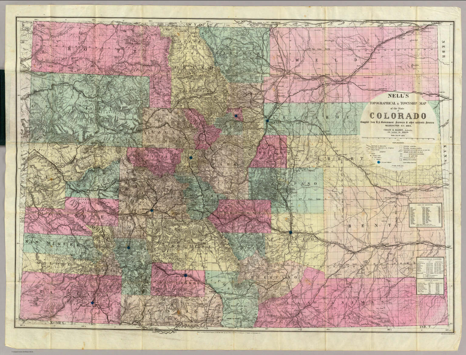 Map of the State of Colorado    David Rumsey Historical Map Collection Map of the State of Colorado