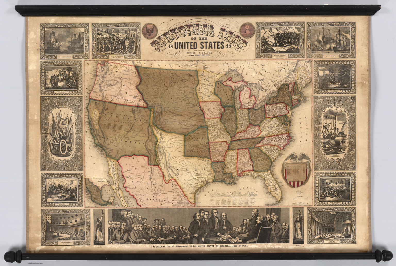 Pictorial Map Of The United States    David Rumsey Historical Map     Pictorial Map Of The United States